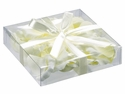 Most Realistic Silk Rose Petals - 5 Sizes in Square Box (60 ea./box) - WHITE