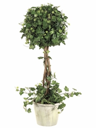 Silk Topiary Plant - 22 inch Curly  Artificial Ivy Topiary in Pot