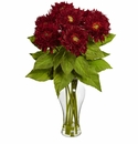 "22.5"" Sunflower Arrangement with Vase - Red"