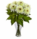 "22.5"" Sunflower Arrangement with Vase - White"
