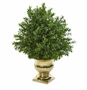 Sweet Grass Artificial Plant in Gold Urn -