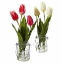Tulip Artificial Arrangement in Jar (set of 2) -