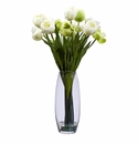 "20"" Tulip with Vase Silk Flower Arrangement"