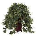 "34"" Vining Puff Ivy with Decorative Vase Silk Plant"