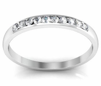 0.14cttw Channel Set Round Diamond Wedding Band Ring