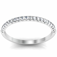 0.16cttw Round Diamond Wedding Ring