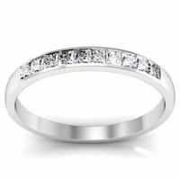 0.33cttw Princess Cut Channel Set Diamond Wedding Ring