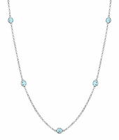 0.50 cttw Aquamarine Station Necklace