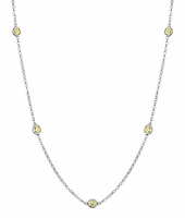 Yellow Sapphires by the Inch Necklace (0.50 cttw)