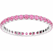 0.70 cttw Pink Sapphire Eternity Ring