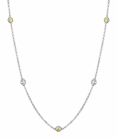 By the Inch Necklace with Diamonds and Yellow Sapphires