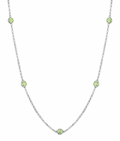 Peridot Station Necklace