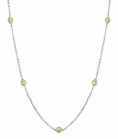 Yellow Sapphire by the Inch Necklace