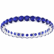 1.00 cttw Sapphire Eternity Ring
