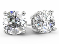 1.75cttw Round Diamond Stud Earrings for Women