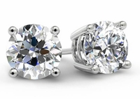 1 Carat Diamond Stud Earrings GIA Certified