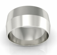 10mm Knife Edge Wedding Ring in 18k Gold