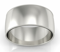 10mm Milgrain Wedding Band in 14k
