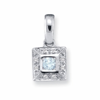 14k Channel Set Mother's Pendant with One Genuine Birthstone