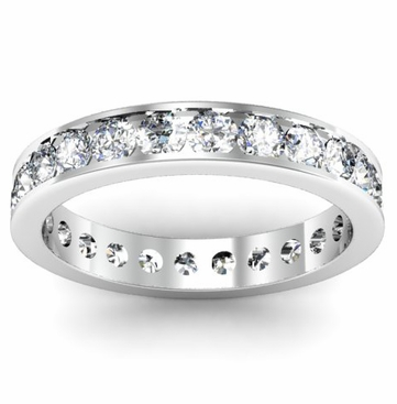 Eternity Channel Set Ring 1.50ct w/ Round Diamonds - click to enlarge
