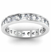 Eternity Channel Set Ring 1.50ct w/ Round Diamonds