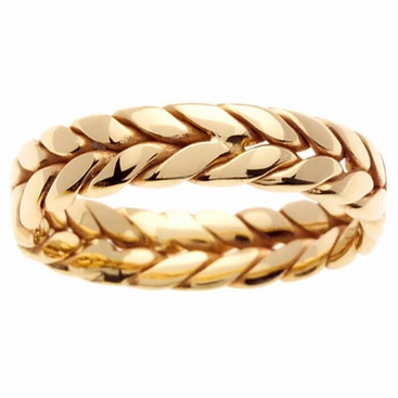 14k Gold Hand Made Ring 6mm - click to enlarge