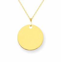 14k Gold Initial Necklace 10mm