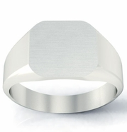 14k Gold Signet Ring 11mm Surface