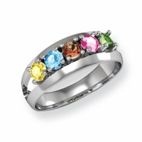 14k Mother's Day Ring with Five Birthstones