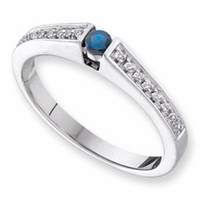 14k Mother's Day Ring with Personalized Birthstone and Diamonds