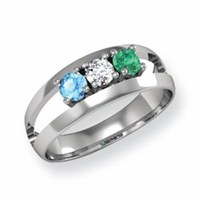 14k Mother's Day Ring with Three Birthstones