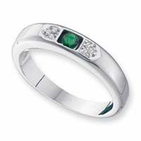 14k Personalized Ring for Mom with One Genuine Birthstone