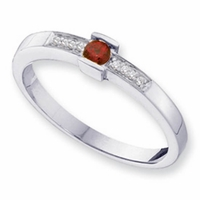 14k Unique Mother's Ring with One Genuine Birthstone and Diamonds
