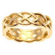 14kt Gold Celtic Knot Wedding Ring in 7mm