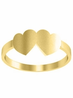 14kt Hearts Ladies Gold Signet Ring