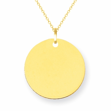 14kt gold disc pendant 12mm 14kt gold disc pendant 12mm click to enlarge aloadofball Images