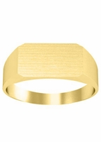 14kt Yellow Gold Personalized Monogram Signet Rings