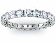 2 Carat Eternity Band Four Prong