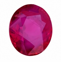 2.15ct Certified Oval Natural Vivid Red Ruby from Burma