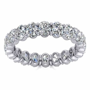 Oval Brilliant Diamond Eternity Band, 2.40cttw
