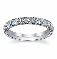 1.50 ctw Forever One Moissanite U Pave Eternity Ring