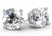 2 Carat Diamond Stud Earrings 14kt Gold G-H, VS