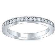 2mm Single Row Pave Eternity Ring
