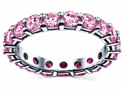 3.00 cttw Pink Sapphire Eternity Ring