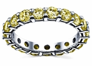 3.00 cttw Yellow Sapphire Eternity Ring