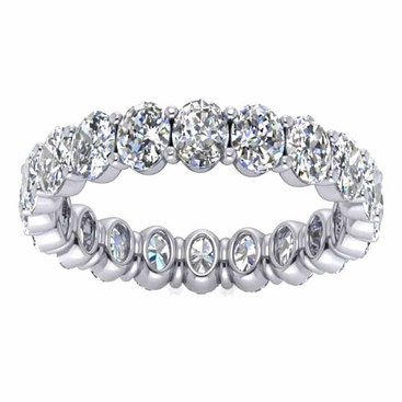 3.00cttw Oval Cut Diamond Eternity Ring - click to enlarge