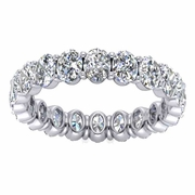 3.00cttw Oval Cut Diamond Eternity Ring
