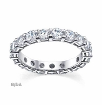 3 ctw Forever One Moissanite Round Eternity Ring
