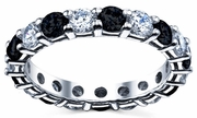3 Carat Diamond Eternity Band with Black Diamonds