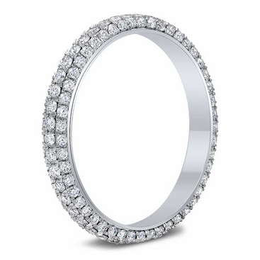 3 Sided Pave Eternity Ring - click to enlarge